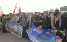 فیلم/ تجمع باشکوه بسیجیان مرند در ۵ آذر ۹۷