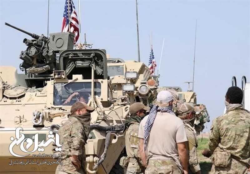 استقرار تجهیزات نظامی ارتش آمریکا در مرز عراق با سوریه