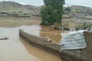 طغیان رودخانه چولهول پلدختر؛ سیلاب به تاسیسات، مزارع و باغات خسارت زد،