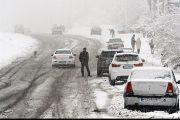 برف و کولاک شدید در محورهای مواصلاتی آذربایجان شرقی ادامه دارد