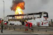 جزئیات جدید از علت حریق اتوبوس در مسیر آزادراه اهواز به ماهشهر
