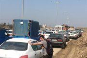 گلستان| ترافیک شدید در محور گرگان- آققلا/ جادههای منتهی به آققلا و گمیشان مسدود شد+فیلم