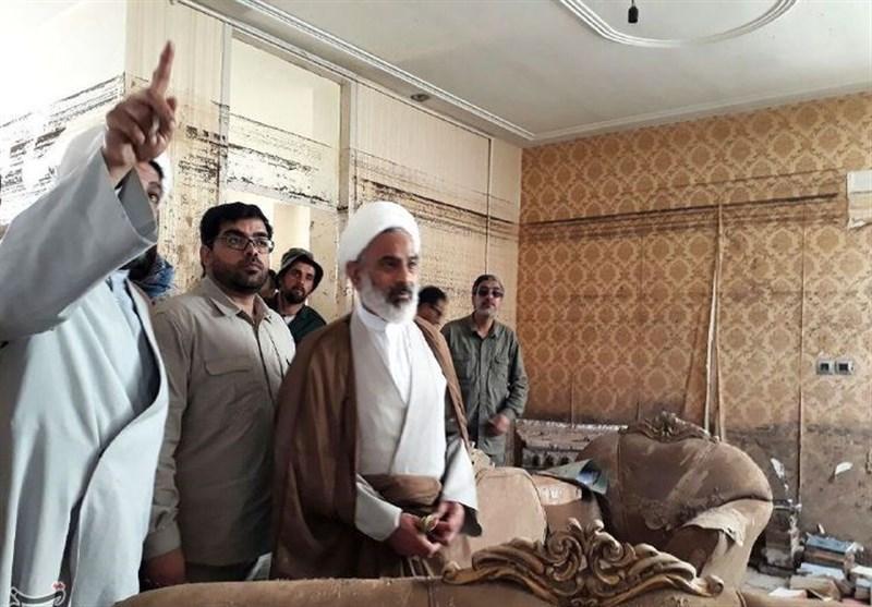 بازدید نماینده ولی فقیه در سپاه از مناطق سیلزده پلدختر+ عکس