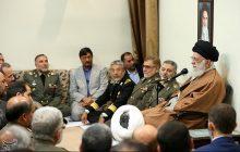 امام خامنهای: ارتش متدینتر و کارآمدتر از همیشه است/ دست برادری دادن ارتش و سپاه حرکتی زیبا پس از حرکت زشت آمریکاییها بود