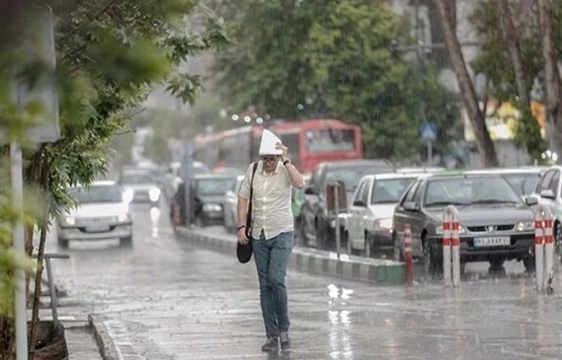 رگبار باران در ۷ استان/ وزش بادهای شدید در تهران