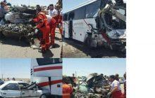 تصادف زنجیرهای ۱۷ دستگاه خودرو در اتوبان قزوین ــ زنجان/ ۲ کشته و ۲۴ مصدوم تاکنون