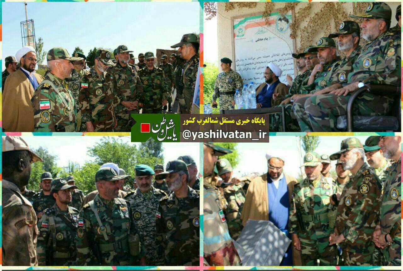 فرمانده ارتش از تیپ متحرک مرند بازدید کرد.