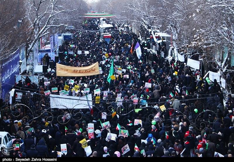 حماسه راهپیمایی ۲۲ بهمن مردم تبریز به روایت تصویر