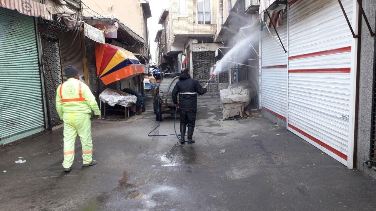 معابر شهری مرند سمپاشی و ضد عفونی شد