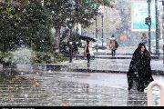 هشدار آبگرفتگی معابر ۱۹ استان/برف پاییزی در سبلان/احتمال خسارت به محصولات کشاورزی