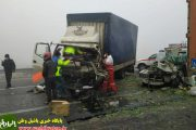 در تصادف شدید پیکان وانت با ایسوزو  ۲ نفر  کشته و مصدوم شدند
